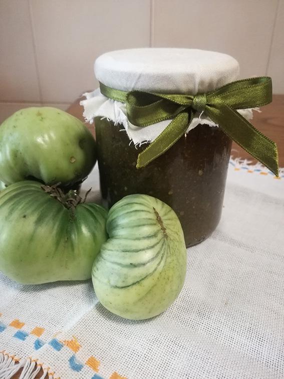 Composta Pomodori Verdi Lime e zenzero